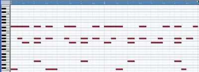 A basic 2step pattern within Cubase SX. Please click on the thumbnail for a larger image and the audio file of the loop